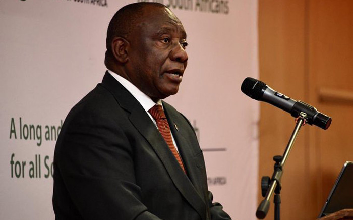 President Cyril Ramaphosa at the signing of the Presidential Health Compact on 25 July 2019 held at the Dr George Mukhari Academic Hospital. Picture: @PresidencyZA/Twitter.