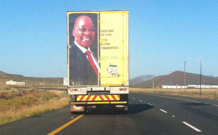 An ANC electioneering vehicle. Picture: Tamsin Wort/EWN.
