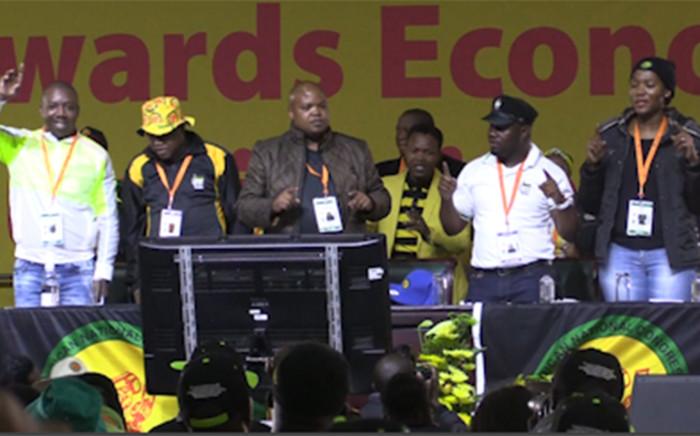 New ANCYL leadership. Picture: Kgothatso Mogale/EWN