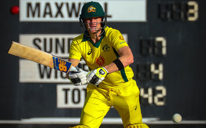 FILE: Australia's Steve Smith plays a shot during a World Cup cricket warm-up match against New Zealand in Brisbane on 10 May 2019. Picture: AFP