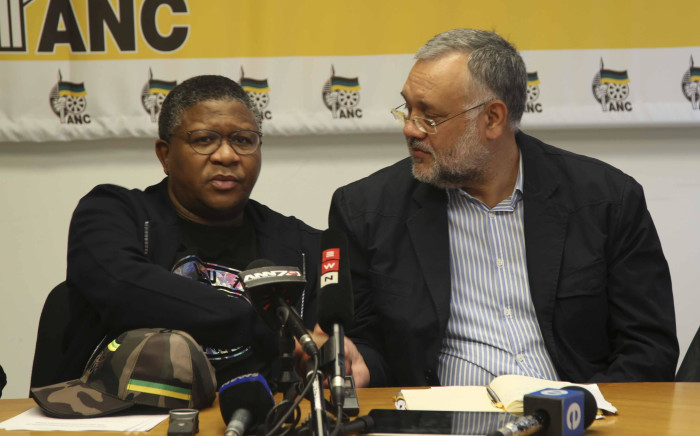 FILE: ANC head of elections Fikile Mbalula (left) and newly appointed Western Cape elections head, Ebrahim Rasool (right). Picture: Cindy Archillies/EWN.