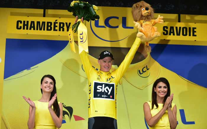 FILE: Chris Froome (C). Picture: @LeTour/Twitter