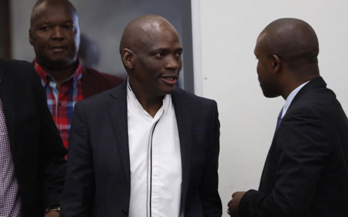 Former SABC COO Hlaudi Motsoeneng arrives at the Zondo Commission of inquiry into state capture in Parktown on 19 July 2019 in support of former President Jacob Zuma. Picture: Abigail Javier/EWN