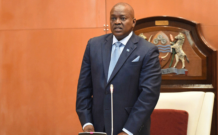 FILE: Botswana's President Mokgweetsi Masisi speaks after taking the oath as the 5th President at the National Assembly in Gaborone on 1 April 2018. Picture: AFP.