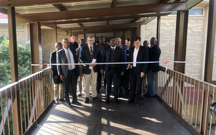 Gauteng Education MEC Panyaza Lesufi hands over the newly built walkway at  Hoёrskool Driehoek in Vanderbijlpark on 23 April 2019. Picture: @EducationGP/Twitter