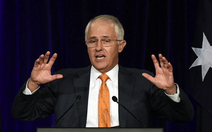Australia's Prime Minister Malcolm Turnbull speaks at a Liberal party function in Sydney on 3 July, 2016, in a tense wait for a result in Australia's general election. Picture: AFP.