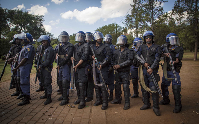 FILE: Public order police deployed at a protest. Picture: Thomas Holder/EWN