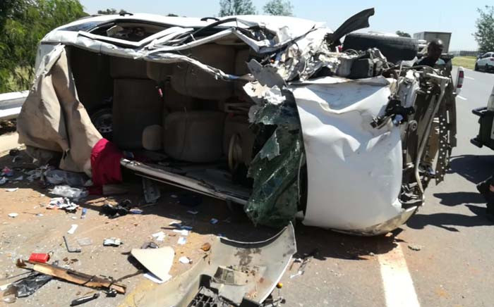 Two people died on Saturday 16 March 2019 in an accident after two vehicles collided on Allandale Road. Picture:@Netcare911_sa/Twitter