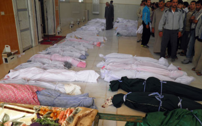 Bodies in Syria. Picture: AFP