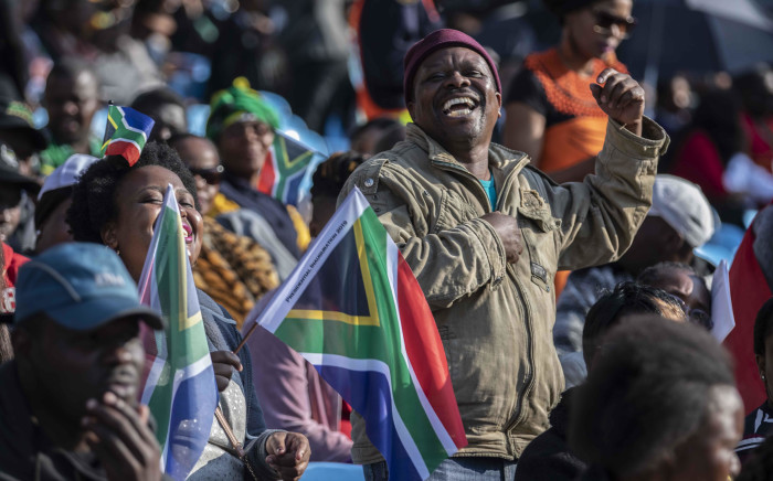 Guests dancing and singing at the inauguration of President-elect Cyril Ramaphosa. Picture: Abigail Javier/EWN.