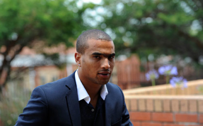 Soccer player Bryce Moon, accused of killing domestic worker Mavis Ncube in a car accident, is seen outside the Randburg Magistrate's Court. Picture: Werner Beukes/SAPA.