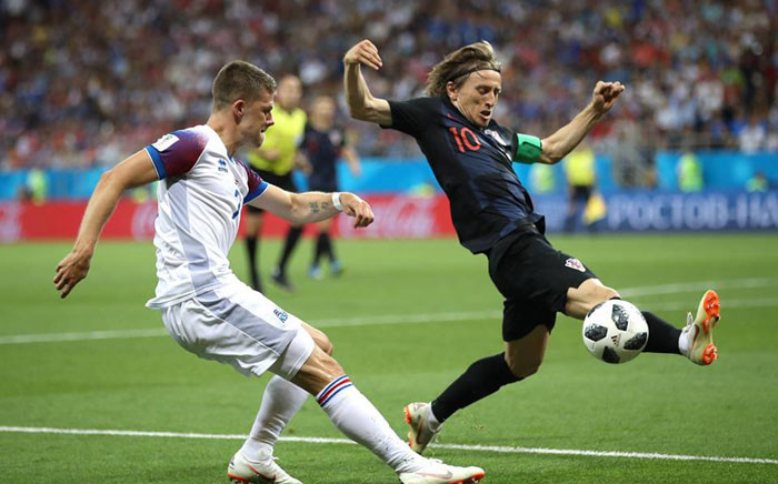 Croatia's Luka Modric in action during their World Cup clash against Iceland. Picture: Facebook.com