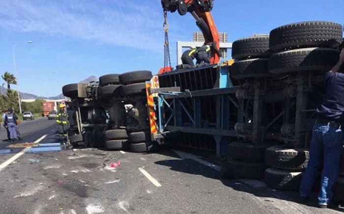 Two people were killed after an accident in Cape Town on 20 September 2017. Picture: City of Cape Town