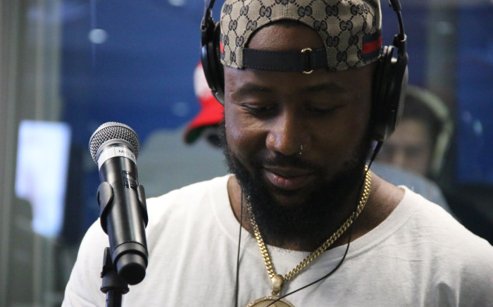Cassper Nyovest on 702 Unplugged. Picture: 702.