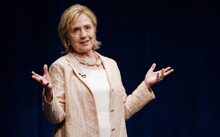 Former US Secretary of State Hillary Rodham Clinton of New York speaks at the Long Center in Austin, Texas, USA, on 20 June 2014. Picture: EPA/ASHLEY LANDIS CORBIS