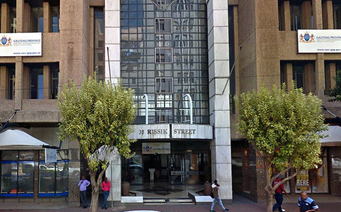 The offices of the Gauteng Sports, Arts, Culture and Recreation at Surrey House, 35 Rissik Street, Johannesburg. Picture: Google Earth.