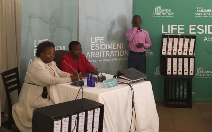 FILE: Merriam Monyane, who lost her son Thabo, is testifying at the Esidimeni arbitration hearings on 16 November 2017. Picture: Thando Kubheka/EWN