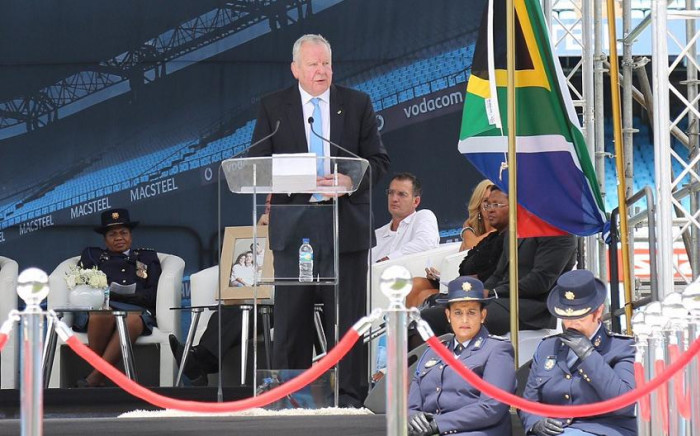 Bill Beaumont, President of World Rugby, pays tribute to late former Springbok captain Joost van der Westhuizen. Picture: Christa Eybers/EWN.