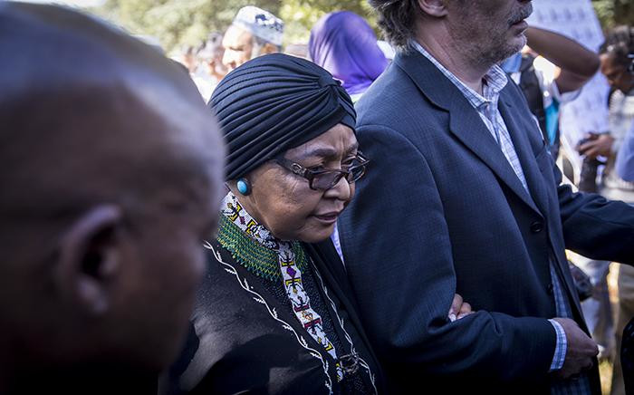 FILE: ANC stalwart Winnie Madikizela Mandela at Ahmed Kathrada's funeral on 29 March 2017. Picture: EWN