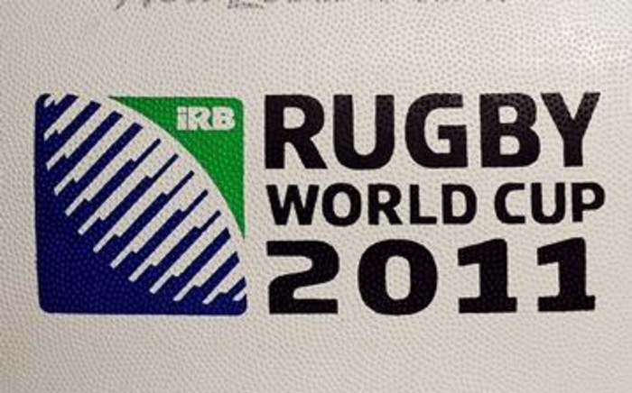 The official IRB ball for the 2011 Rugby World Cup in New Zealand. Picture: AFP