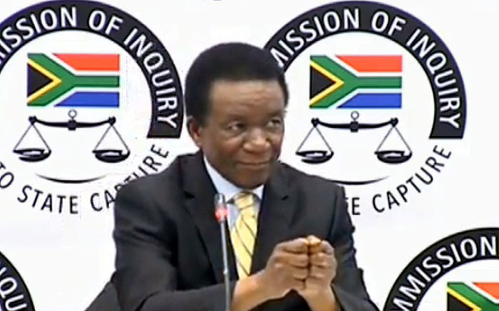 A screegrab shows former International Relations director general Jerry Matjila at the state capture inquiry on 8 July 2019.