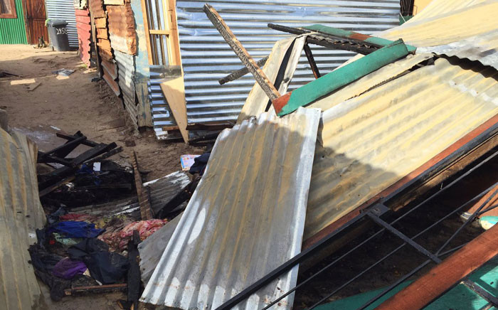 A Wallacedene shack fire has claimed a seventh victim after 51-year-old Thenjiwe Mankay dies in hospital. Picture: Natalie Malgas/EWN