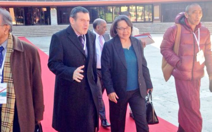 Cape Town Mayor Patricia de Lille at Rome's Auditorium Parco della Musica on 12 December as day 1 of the summit wrapped up. Picture: Giovanna Gerbi/EWN.