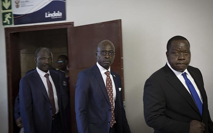 Home Affairs Minister Malusi Gigaba held bilateral talks with Kenya Minister of Interior, Fred Matiang'i, at the Lindela holding facility in Krugersdorp on 5 November 2018. Pictures: Sethembiso Zulu/EWN