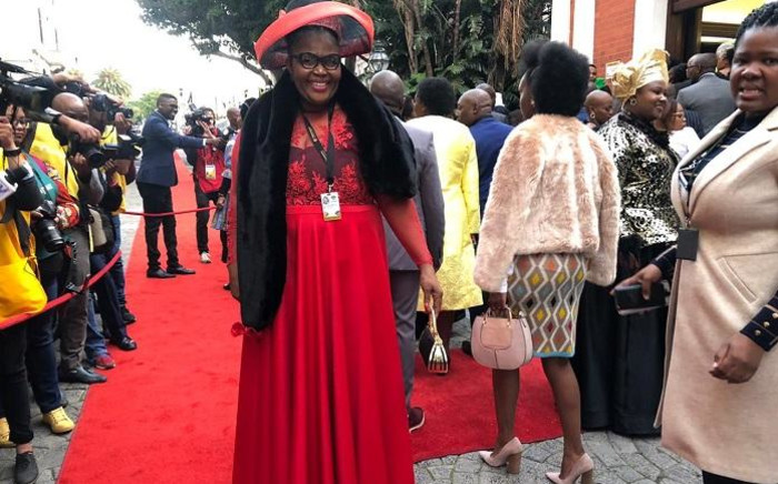 ANC Chief Whip Pemmy Majodina attends Sona 2019. Picture: Bertram Malgas/EWN.
