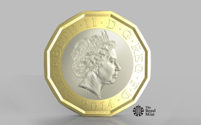 "The new 12-sided one pound coin, the design for which is based on the three pence piece or ""Threepenny bit"". Britain plans to ditch the 1 pound coin it has used for the past three decades. Picture: AFP."
