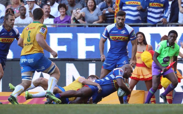 Stormers' hooker Ramone Samuels crosses the line for the home side during the Super Rugby game against Bulls. Picture: @THESTORMERS/Twitter