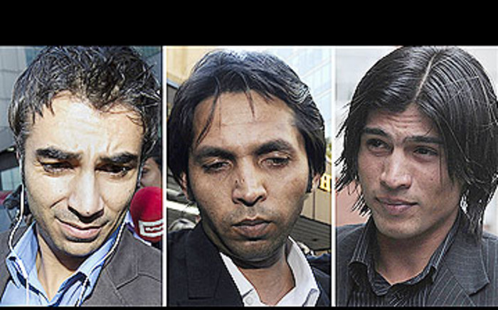 Pakistani cricketers Salman Butt and Mohammad Asif were banned for spot-fixing. Picture: AFP