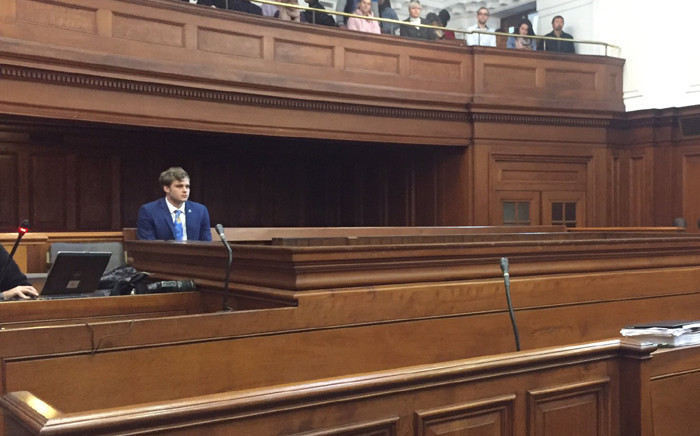 FILE: Henri van Breda shifted to the back of the stand to avoid seeing photos of his family's bloodied bodies. Picture: Monique Mortlock/EWN
