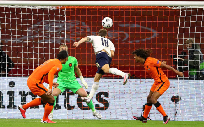 Italy's Nicolo Barella scores against the Netherlands during their UEFA Nations League match on 7 September 2020 in Amsterdam. Picture: @EURO2020/Twitter
