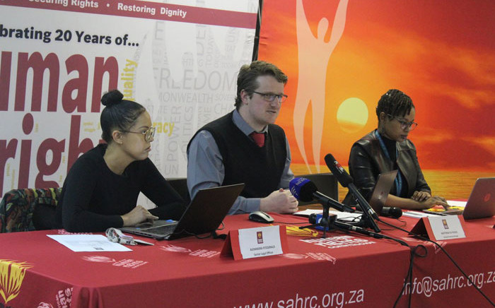 A South African Human Rights Commission (SAHRC) panel holds hearings on the sale of fake and expired goods. Picture: @SAHRCommission/Twitter