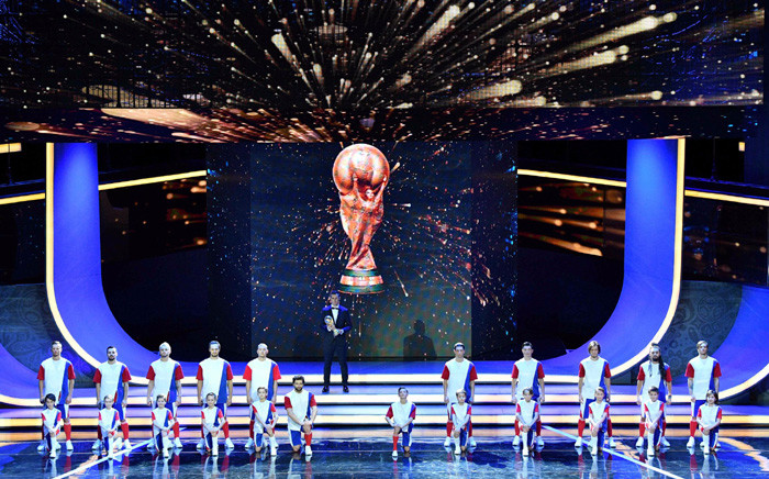 A view of the World Cup Trophy ahead of the World Cup Draw on 1 December. Picture: @FIFAWorldCup/Twitter.