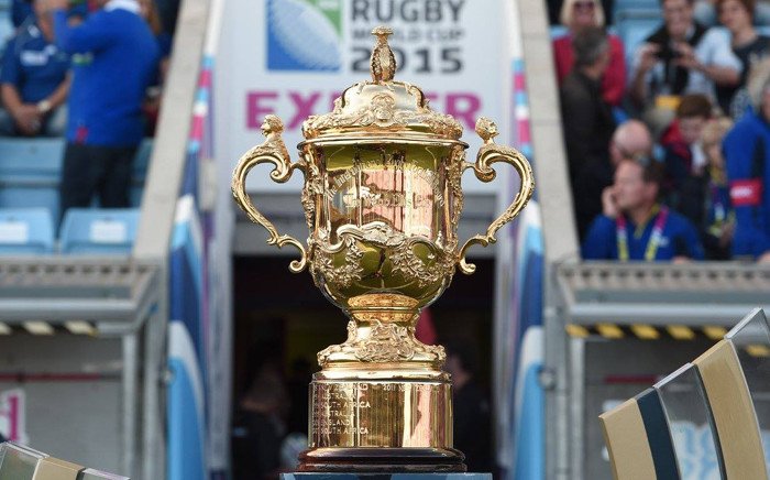 The Rugby World Cup trophy. Picture: Rugby World Cup Facebook page.