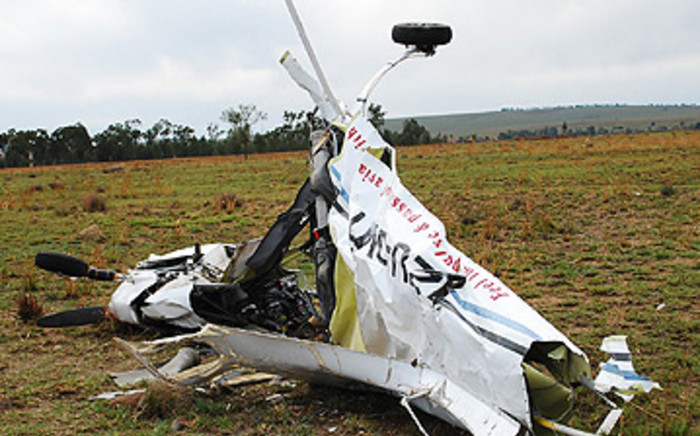 Plane crash.