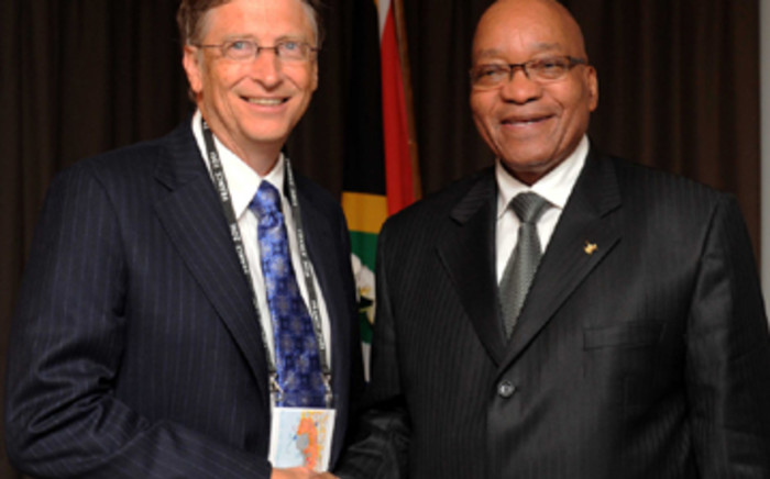 Bill Gates and SA president Jacob Zuma at the G20 Summit in France in 2012. Picture: GCIS.