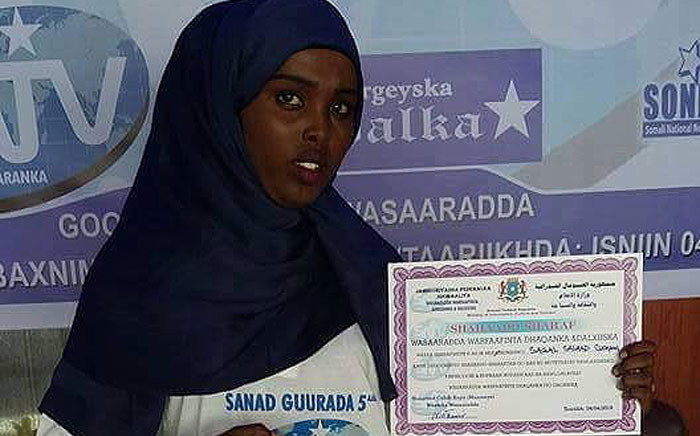 Somali journalist Sagal Salad. Picture: @Daudoo via Twitter.