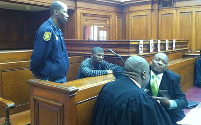 The alleged gunman in the Anni Dewani trial appears in the Western Cape High Court on 30 August 2012. Picture: Nathan Adams/EWN