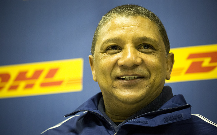 Allister Coetzee addresses the media in Cape Town during his final press conference as Western Province coach on 24 June 2015. Picture: Aletta Gardner/EWN