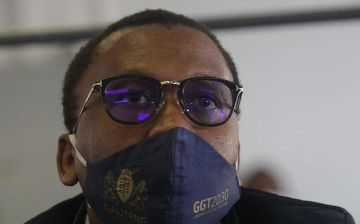FILE: Former Gauteng Health MEC Bandile Masuku on 20 July 2020. Picture: Kayleen Morgan/Eyewitness News.