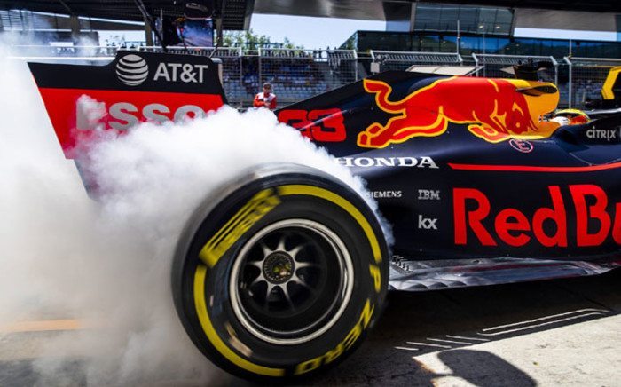 A Honda-powered Aston Martin Red Bull Racing F1 car. Picture: @redbullracing/Twitter