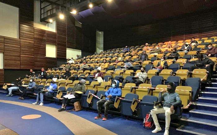 Gauteng Education MEC Panyaza Lesufi addresses the new recruits for the Youth Brigades in the anticipation of schools reopening on 1 June 2020. Picture: @educationgp/Twitter