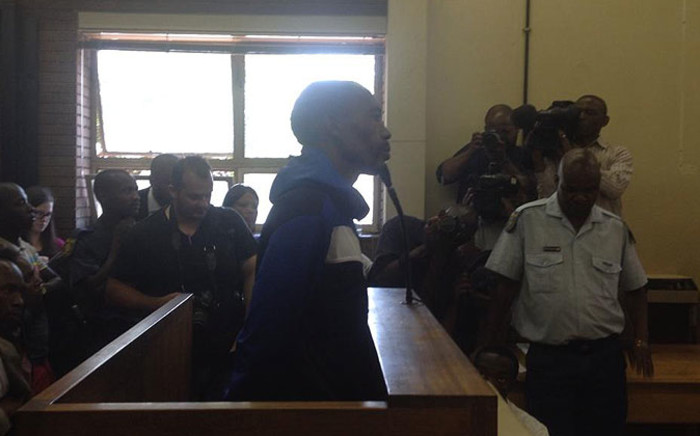 FILE: The suspect arrested for the murder of 4-year-old Taegrin Morris in the dock on 29 October 2014. Picture: Thando Kubheka/EWN