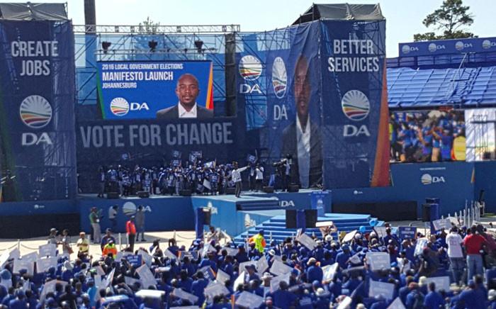 The Democratic Alliance launched it election manifesto on 23 April 2016. Picture: @da_mpl via Twitter.