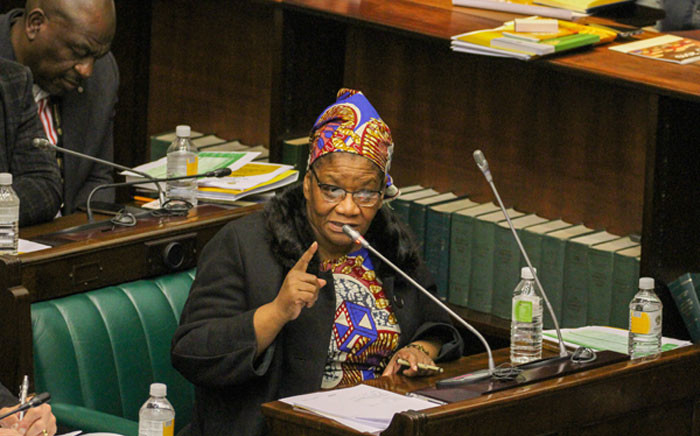 FILE: The Speaker of the National Assembly Thandi Modise. Picture: @ParliamentofRSA/Twitter.