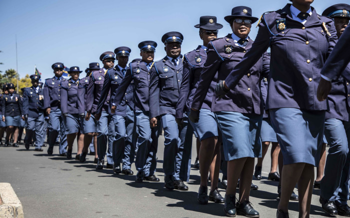The SAPS in Gauteng launch the 2018 safer festive season operations. Picture: Abigail Javier/EWN