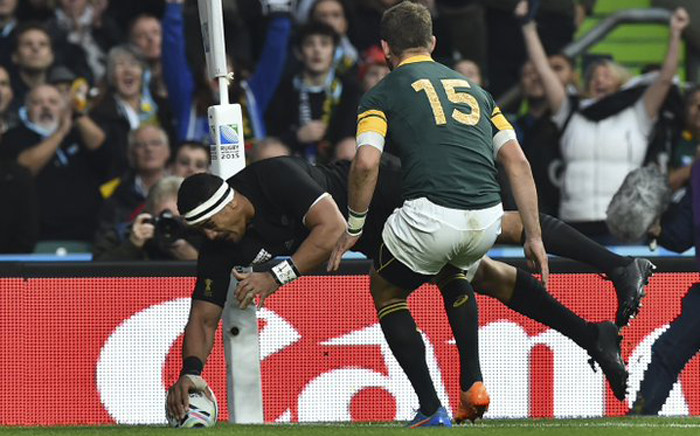 Springboks vs New Zealand in the Rugby World Cup semifinal at Twickenham on 24 October 2015. Picture: Rugby World Cup ‏@rugbyworldcup.